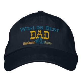 Fathers Day Embroidered Hat