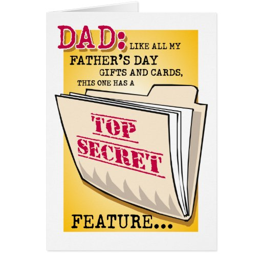 "Father's Day ""Feature"" Greeting Card"