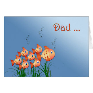Father's Day Fish Family Greeting Card