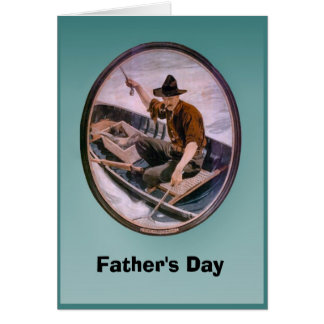 Father's day - Fishing boat Card