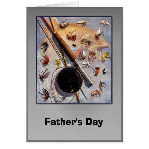 Father's day - Fishing flies Card
