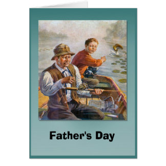 Father's day - Fishing from the boat Card