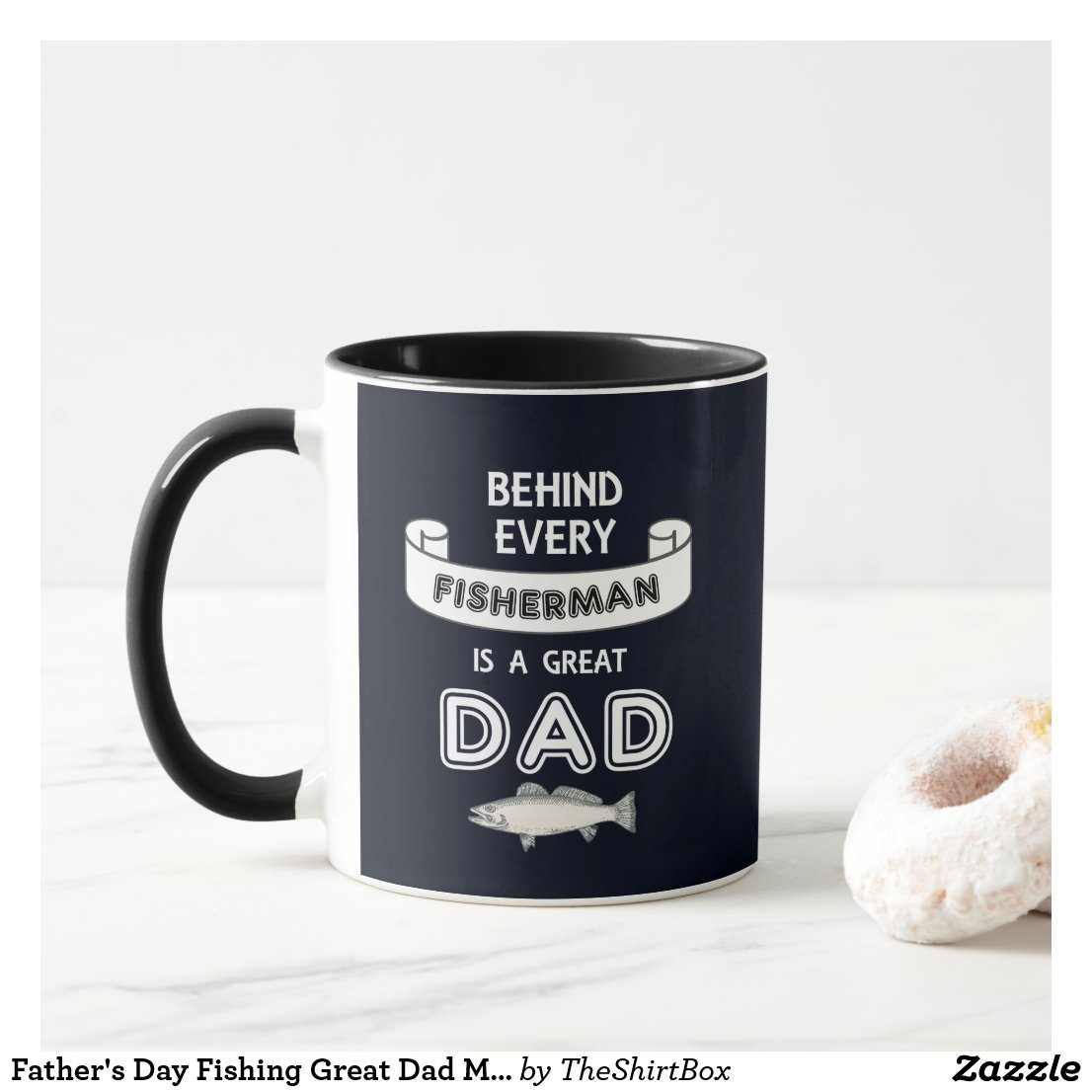 Father's Day Fishing Great Dad Mug