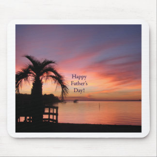 Fathers Day Florida Beach Sunset Mouse Pad