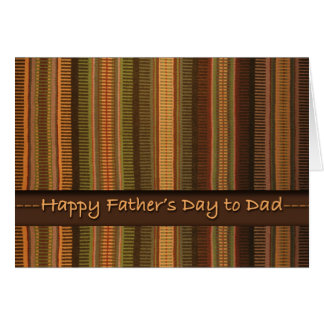 Father's Day for Dad, Earth Tones Weaving Card