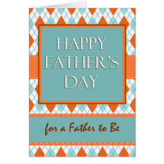 Father's Day for Father to Be, Argyle Design Greeting Card