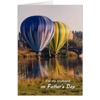Father's Day for Husband Hot Air Balloons Splash Card
