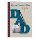 Father's Day for Nephew Baseball Theme No.1 Dad Card
