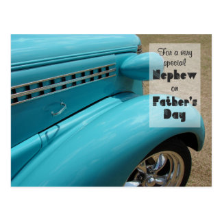 Father's Day for Nephew Hot Rod Photo Postcard