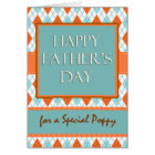 Father's Day for Poppy, Argyle Design Card