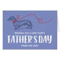 FATHER'S DAY FROM THE DOG | DACHSHUND
