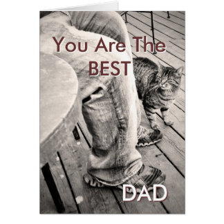 """""""Father's Day From the Pets"""" Samson the Cat Photo Card"""