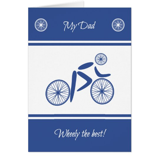 Father's Day funny cycling pun sports Card