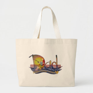Father's day gift from son jumbo tote bag