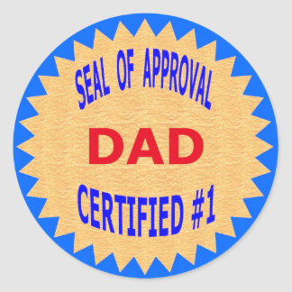 Father's Day Gift T-Shirts and Unique Gift Items Round Sticker