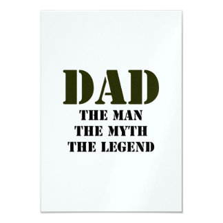 Father's Day Gifts 3.5x5 Paper Invitation Card