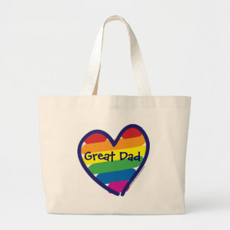 Father's Day Great Dad Jumbo Tote Bag