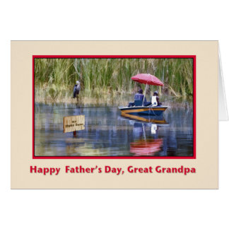 Father's Day, Great Grandpa, Fishing Greeting Card
