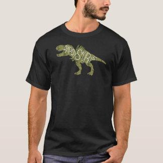 Fathers Day - Green Daddysaurus Dinosaur T-Shirt