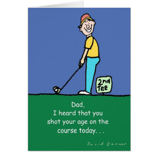 Father's Day Greeting card with golf theme