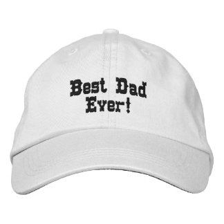 Father's Day Hat Embroidered Hats