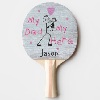 Father's Day Hero Dad & Daughter Ping Pong Paddle