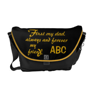 Father's Day His Initials Dad Courier Bag