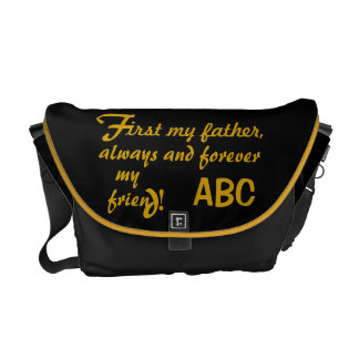 Father's Day His Initials Father Messenger Bag