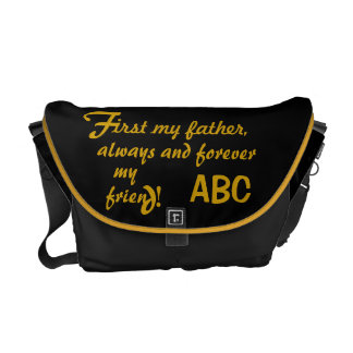 Father's Day His Initials Father Messenger Bags