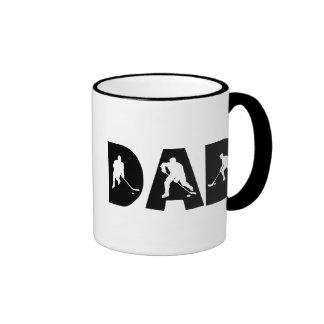 Father's Day Hockey Dad Ringer Mug