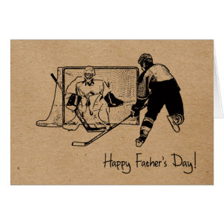Father's Day! Hockey Greeting Card