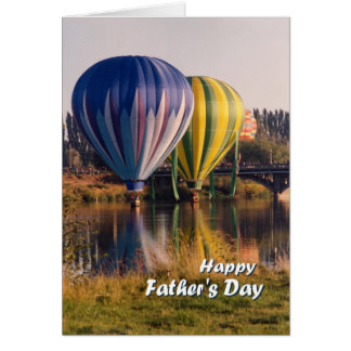 Father's Day, Hot Air Balloons Splash & Dash Card