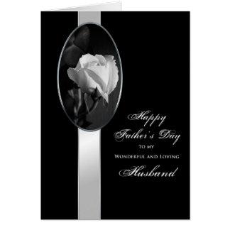 Father's Day Husband - Elegant rose Card