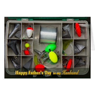 Father's Day - Husband - Fishing Tackle Box - Top Card