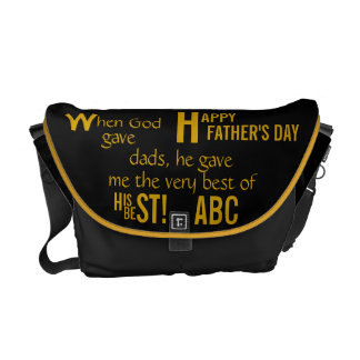 Father's Day- Initial-Dads Courier Bags