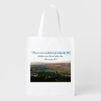 Fathers Day Italy and Scripture Grocery Bag