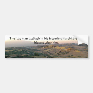 Father's Day Italy & Scripture Gifts Bumper Sticker