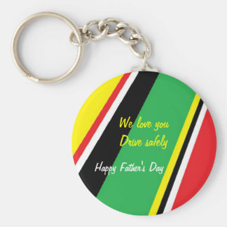 Father's day keychains-drive safely basic round button key ring