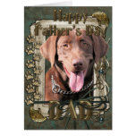 Fathers Day - Labrador - Chocolate Greeting Card
