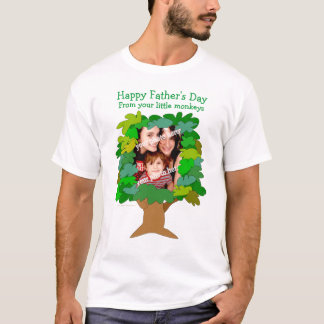 Fathers Day Little Monkeys Photo Shirt Template