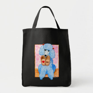 Father's Day Love Dad Poodle Pampering Tote Bag