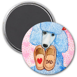 Father's Day Love Dad Poodle Pampering Magnet