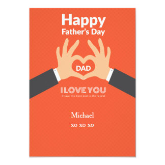 Father's Day Love Greeting Card 13 Cm X 18 Cm Invitation Card
