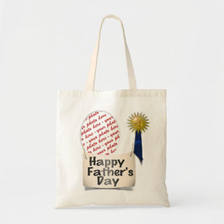 Father's Day Memento Frame Budget Tote Bag