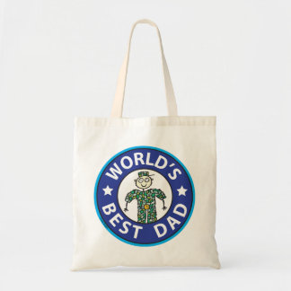 Fathers Day Military Dad Tote Bags