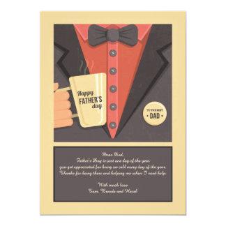 Father's Day Mug Greeting Card 13 Cm X 18 Cm Invitation Card