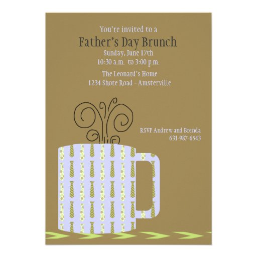 Father's Day Mug Invitation