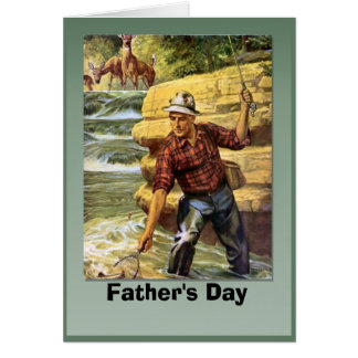 Father's day - Netting the fish Greeting Card