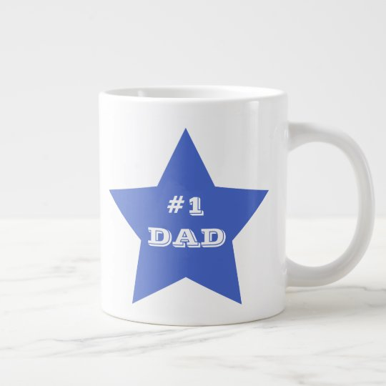 Father's Day, Number 1 Dad, #1 Blue Star