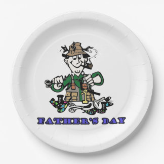 Fathers Day Paper Plate